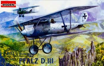 Roden Model Aircrafts Pfalz D.III -- Plastic Model Airplane Kit -- 1/72 Scale -- #rd0003