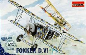 Roden Fokker D.VI Plastic Model Airplane Kit 1/72 Scale #rd0007