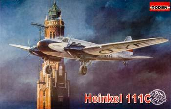 Roden Model Aircrafts Heinkel He111C Civil -- Plastic Model Airplane Kit -- 1/72 Scale -- #rd0009