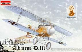 Roden Albatros D.III Plastic Model Airplane Kit 1/72 Scale #rd0012