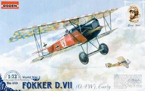 Roden Fokker D.VII OAW Early Plastic Model Airplane Kit 1/72 Scale #rd0013