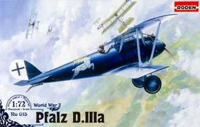 Roden Pfalz D.IIIA Plastic Model Airplane Kit 1/72 Scale #rd0015