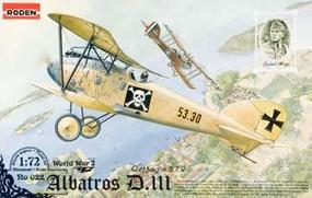 Roden Albatros D.III EOFFAG S.53 Plastic Model Airplane Kit 1/72 Scale #rd0022