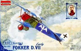 Roden Fokker D.VII Early Plastic Model Airplane 1Kit 1/72 Scale #rd0025