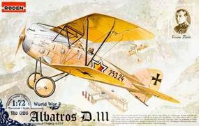 Roden Albatros D.III OEFFAG Plastic Model Airplane Kit 1/72 Scale #rd0026