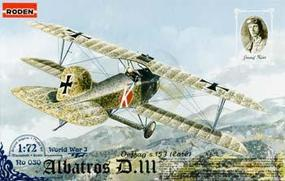 Roden Albatros D.III OEFFAG S.153 Plastic Model Airplane Kit 1/72 Scale #rd0030