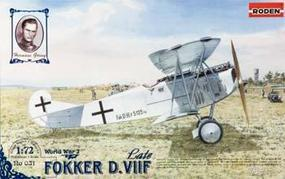 Roden Fokker D.VIIF Late Plastic Model Airplane Kit 1/72 Scale #rd0031