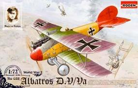 Roden Albatros D.Va Plastic Model Airplane Kit 1/72 Scale #rd0032