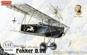Roden Fokker D.VII ALB Early Plastic Model Airplane Kit 1/72 Scale #rd0033