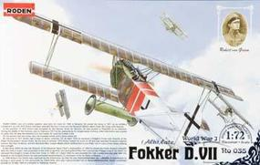 Roden Fokker D.VII ALB Late Plastic Model Airplane Kit 1/72 Scale #rd0035