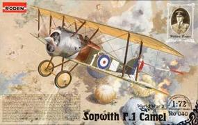 Roden Spowith Camel F.1 Plastic Model Airplane Kit 1/72 Scale #rd0040