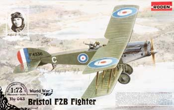 Roden Model Aircrafts Bristol F2B Fighter -- Plastic Model Airplane Kit -- 1/72 Scale -- #rd0043