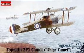 Roden Sopwith 2 F.1 Ships Camel Plastic Model Airplane Kit 1/72 Scale #rd0044