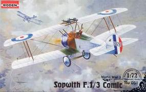 Roden Sopwith F.1/3 Comic Plastic Model Airplane kit 1/72 Scale #rd0051