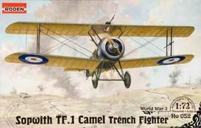 Roden TF.1 Camel Trench Fighter Plastic Model Airplane Kit 1/72 Scale #rd0052