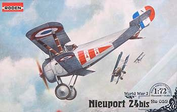 Roden Model Aircrafts Nieuport 24 Bis -- Plastic Model Airplane Kit -- 1/72 Scale -- #rd0059