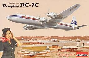 Roden DC-7C Japan Air Lines Plastic Model Airplane Kit 1/144 Scale #rd0303