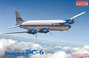 Roden Model Aircrafts DC-6 USA -- Plastic Model Airplane Kit -- 1/144 Scale -- #rd0304