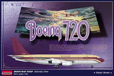 Roden Model Aircrafts Boeing 720 Starship One -- Plastic Model Airplane Kit -- 1/144 Scale -- #rd0314