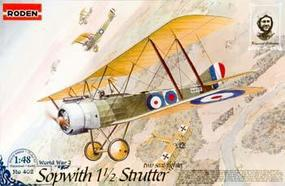 Roden Sopwith 1-1/2 Strutter Two Seat Fighter Plastic Model Airplane Kit 1/48 Scale #rd0402