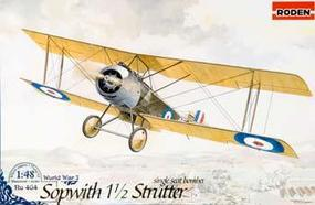 Roden Sopwith 1 1/2 Strutter Single Seat Bomber Plastic Model Airplane Kit 1/48 Scale #rd0404