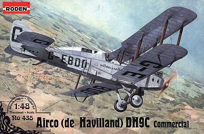Roden De Havilland DH9C Plastic Model Airplane Kit 1/48 Scale #rd0435