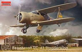 Roden Beechcraft UC-43 Traveller Plastic Model Airplane Kit 1/48 Scale #rd0442