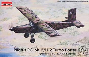 Roden Model Aircrafts Pilatus PC-6B-2/H-2 Turbo Porter -- Plastic Model Airplane Kit -- 1/48 Scale -- #rd0443