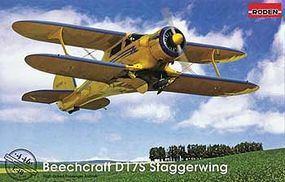Roden Beechcraft D17S Plastic Model Airplane Kit 1/48 Scale #rd0446