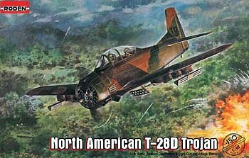 Roden Model Aircrafts North American T-28D Trojan -- Plastic Model Airplane Kit -- 1/48 Scale -- #rd0450
