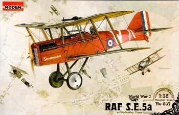 Roden SE5A RAF with Wolseley Viper Plastic Model Airplane Kit - 1/32 Scale #rd0607