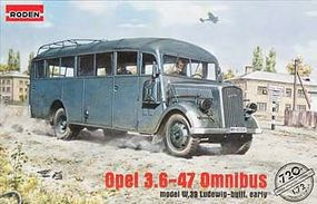 Roden Opel 3.6-47 Omnibus W39 Plastic Model Military Vehicle Kit 1/72 Scale #rd0720