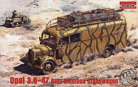 Roden Opel 3.6-47 Blit Stabswagen Plastic Model Military Vehicle Kit 1/72 Scale #rd0723