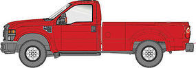 RiverPoint F350 XLT SRW Regular Cab Red HO Scale Model Railroad Vehicle #536505710