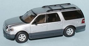 RiverPoint 2007 Ford Expedition EL XLT SUV Metallic Silver HO Scale Model Railroad Vehicle #536760104