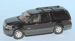 RiverPoint 2007 Ford Expedition EL XLT SUV Black HO Scale Model Railroad Vehicle #536760107