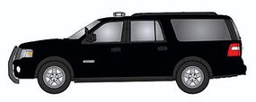 RiverPoint 2007 Ford Expedition EL SSP SUV - Assembled Painted, Unlettered (black w/Modern Light Bar & Black Push Bar) - HO-Scale