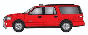 RiverPoint Emergency 2007 Ford Expedition EL SSP SUV Unlettered Red w/Modern Light Bar & Chrome Push Bar - HO-Scale