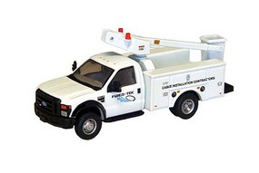 RiverPoint F-450 XL Bucket Truck w/Regular Cab & Dual Rear Wheels Assembled Fiber-Tek Cable Installation Services (white)