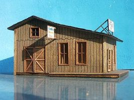 RS-Laser Gregs Saloon and Repair Shop HO Scale Model Railroad Building #2005