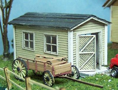 One car garage ho scale model railroad building 2012 by for Single garage kit
