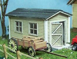 RS-Laser One Car Garage HO Scale Model Railroad Building #2012