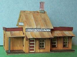 RS-Laser Eatery at Forks Kit HO Scale Model Railroad Building #2013