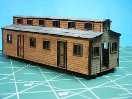 RS-Laser Logging Bunk House Car Kit HO Scale Model Railroad Building #2019