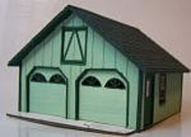 RS-Laser Cape 2 Car Garage Kit HO Scale Model Railroad Building #2033