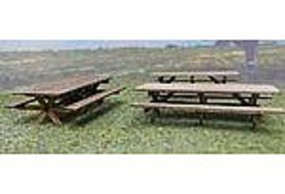 RS-Laser Picnic Tables 6 Pack Kit HO Scale Model Railroad Building Accessory #2515