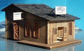 RS-Laser Gregs Saloon and Repair Kit N Scale Model Railroad Building #3005