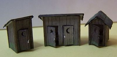 RS-Laser Outhouse 3 Pack Kit N Scale Model Railroad Building #3010