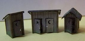 Outhouse 3 Pack Kit N Scale Model Railroad Building #3010
