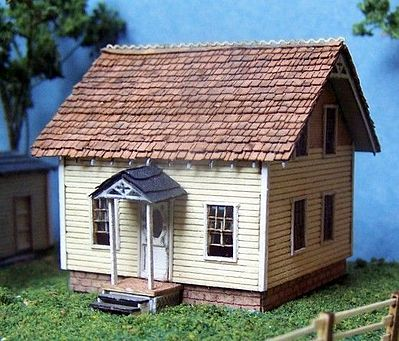 RS Laser Kits Dave's House Kit -- N Scale Model Railroad Building -- #3011